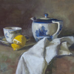Still Life with Teapot and Lemon, Sold