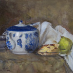 Still Life with Teapot and Pear