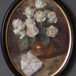 White Roses Oval